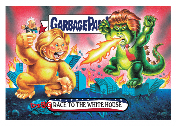 2016 Topps Garbage Pail Kids Dis-grace to the White House 1