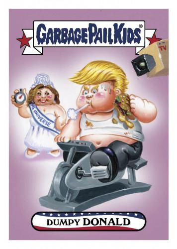 2016 Topps Garbage Pail Kids Dis-grace to the White House 9 Dumpy Donald