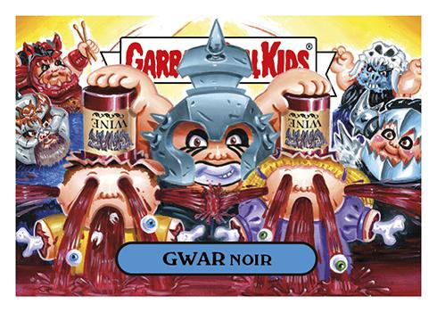 2016 Topps Garbage Pail Kids Riot Fest Gwar Noir