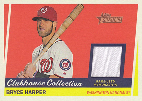 2016 Topps Heritage High Number Clubhouse Collection Relics Bryce Harper
