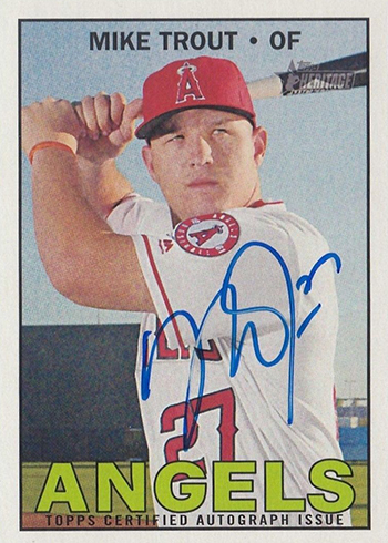 2016 Topps Heritage High Number Real One Autographs Mike Trout
