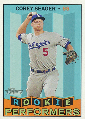 2016 Topps Heritage High Number Rookie Performers Corey Seager