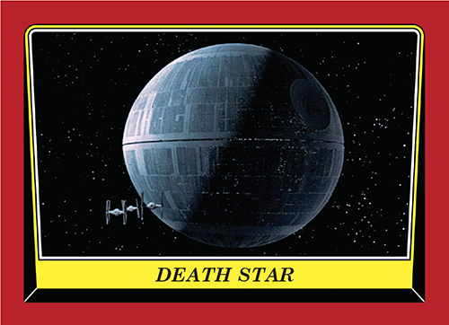 2016 Topps Rogue One Mission Briefing Promo Card 85 Death Star
