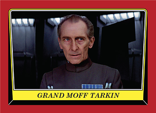 2016 Topps Rogue One Mission Briefing Promo Card 87 Grand Moff Tarkin
