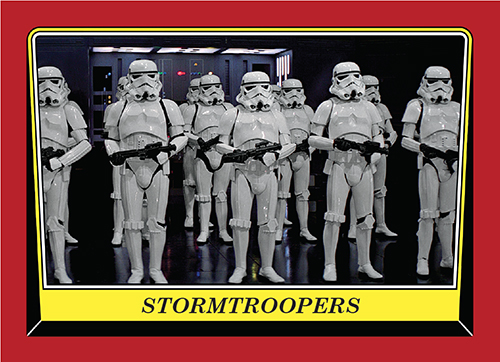 2016 Topps Rogue One Mission Briefing Promo Card 91 Stormtroopers