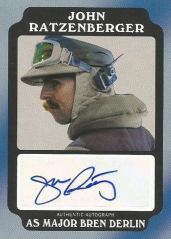 2016 Topps Star Wars Rogue One Mission Briefing Autograph John Ratzenberg