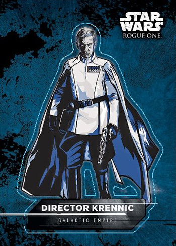2016 Topps Star Wars Rogue One Mission Briefing Character Stickers