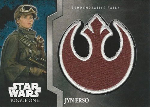 2016 Topps Star Wars Rogue One Mission Briefing Patch Card