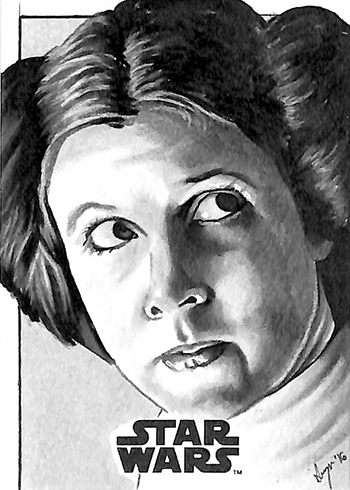 2016 Topps Star Wars Rogue One Mission Briefing Sketch Card Stephanie Swanger