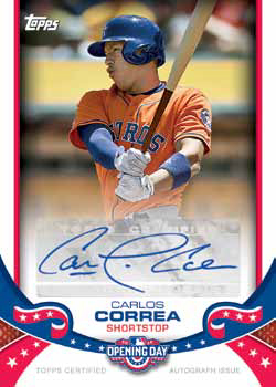 2017 Topps Opening Day Baseball Autographs
