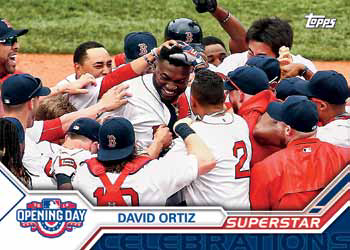 2017 Topps Opening Day Baseball Superstar Celebrations