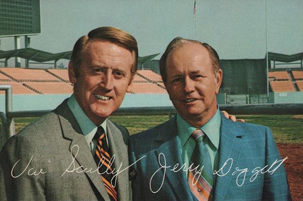 1971 LA Dodger Ticketron Vin Scully