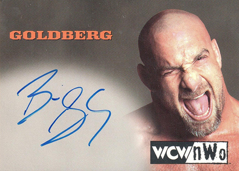 1999 Topps WCW nWo Nitro Goldberg Autograph