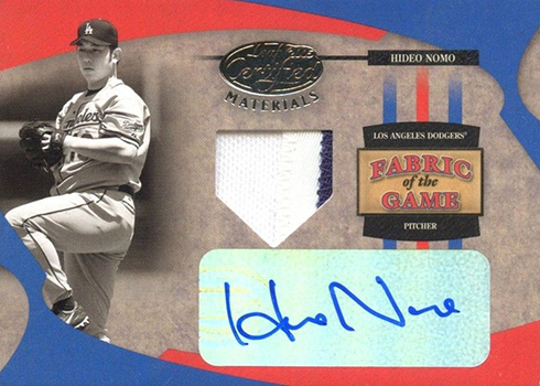 2005 Leaf Certified Materials Hideo Nomo Autographed Patch