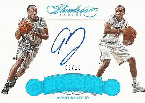 2015-16 Panini Flawless Basketball Now and Then Autographs Avery Bradley
