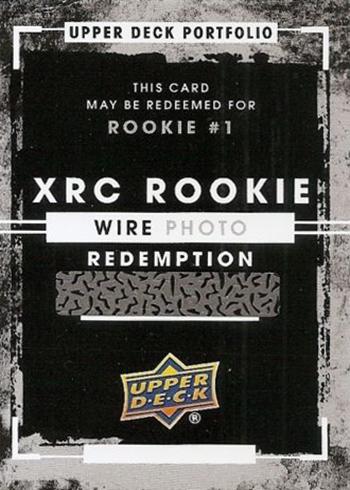 2015-16 Upper Deck Portfolio XRC Rookie 1 Wire Photo