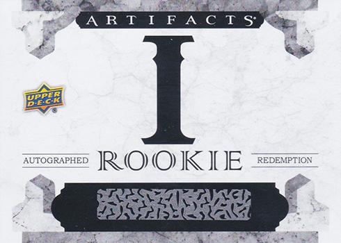 2016-17 Upper Deck Artifacts Rookie Autograph Redemption I