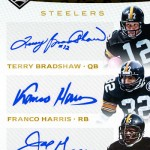 2016 Panini Limited Football Limited Partnership Trio Autographs