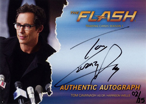 2016 The Flash Season 1 Autographs Tom Cavanagh Dr Harrison Wells
