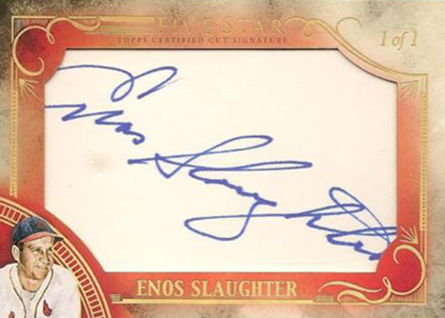 2016 Topps Five Star Baseball Cut Signature Enos Slaughter