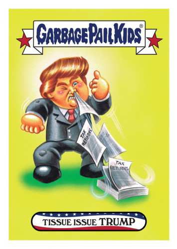 2016 Topps Garbage Pail Kids Dis-grace to the White House 20 Tissue Issue Trump