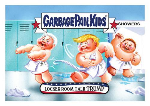 2016 Topps Garbage Pail Kids Dis-grace to the White House 22 Locker Room Talk Trump
