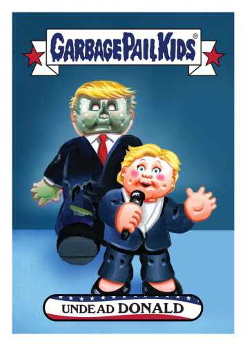 2016 Topps Garbage Pail Kids Dis-grace to the White House 23 Undead Donald