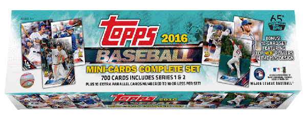 2016 Topps Mini Baseball Factory Set