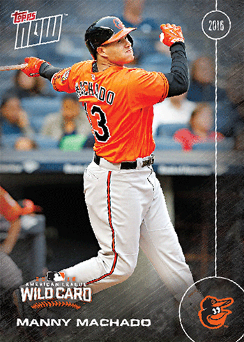 2016 Topps Now Postseason Manny Machado