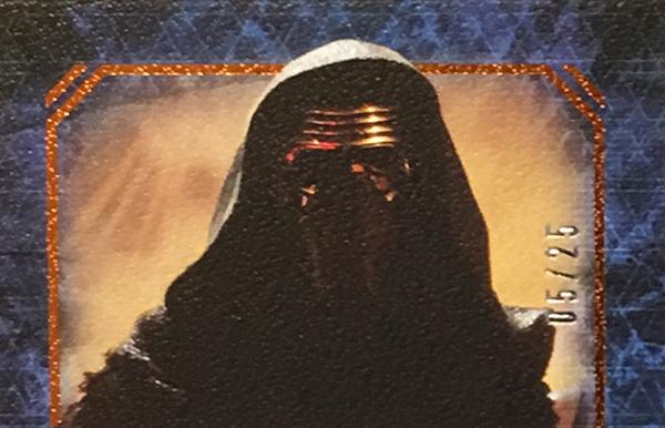 2016 Topps Star Wars Masterwork Adam Driver Autograph header