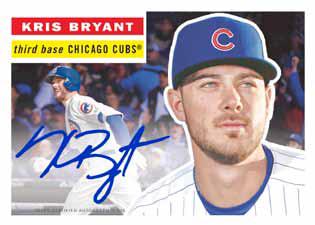 2016 Topps Transcendent Baseball Kris Bryant Autograph 1956
