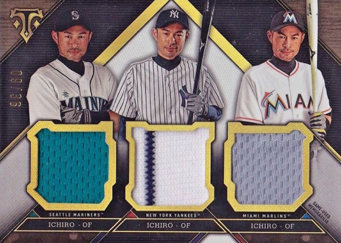 2016 Topps Triple Threads Triple Threads Relic Combos Ichiro 36