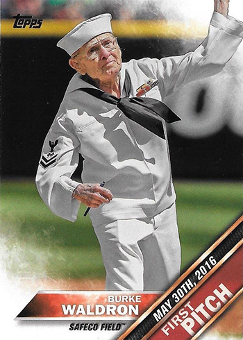 2016 Topps Update First Pitch Burke Waldron