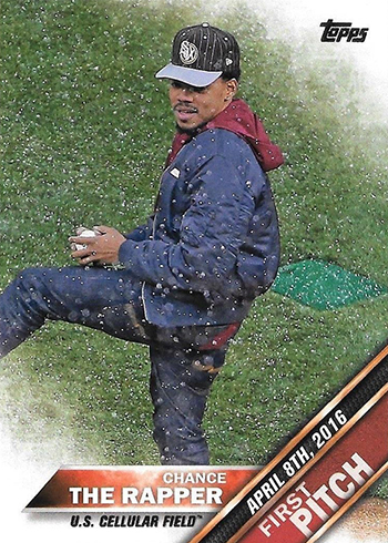 2016 Topps Update First Pitch Chance the Rapper
