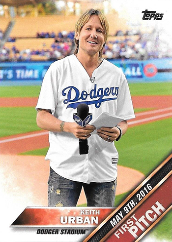 2016 Topps Update First Pitch Keith Urban
