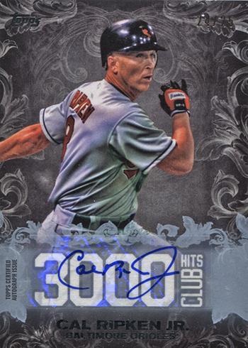2016 Topps Update Series Baseball 3000 Hit Club Autograph Cal Ripken Jr