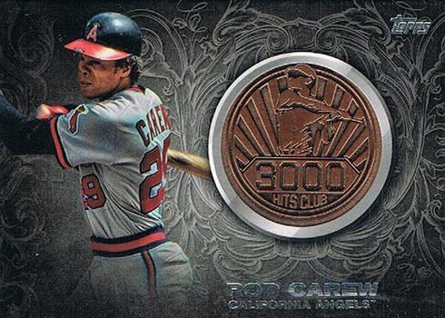 2016 Topps Update Series Baseball 3000 Hit Club Medallion Rod Carew