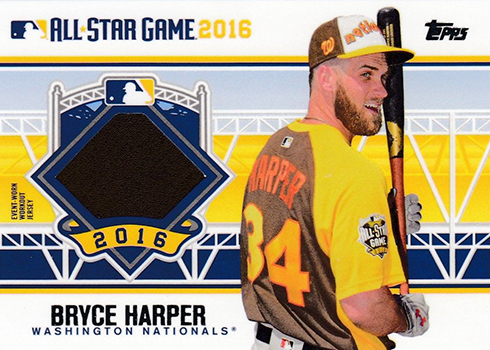 2016 Topps Update Series Baseball All-Star Stitches Bryce Harper