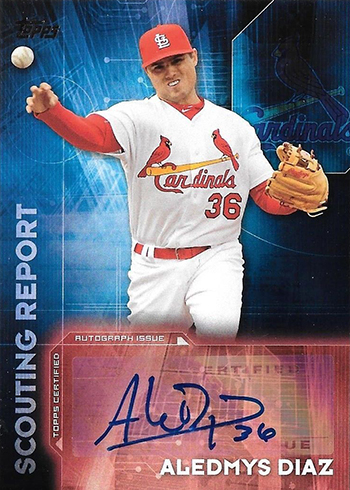 2016 Topps Update Series Baseball Scouting Report Autographs Aledmys Diaz