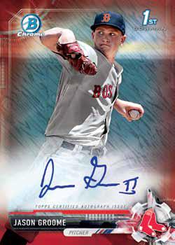 2017 Bowman Baseball Chrome Prospect Autograph Red Shimmer Refractor