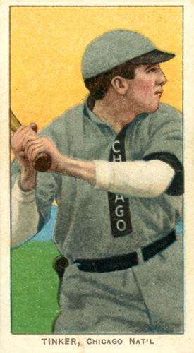 T206 Joe Tinker Bat Off Shoulder