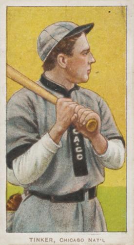 T206 Joe Tinker Bat on Shoulder