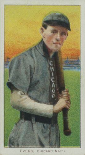 T206 Johnny Evers with Bat Chicago