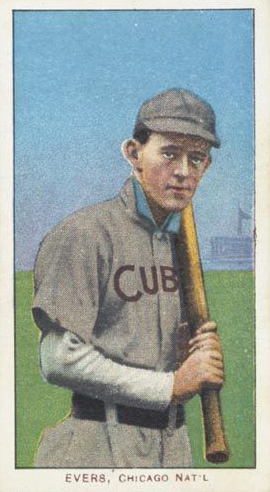 T206 Johnny Evers with Bat Cubs