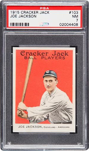 1915 Cracker Jack Joe Jackson PSA 7
