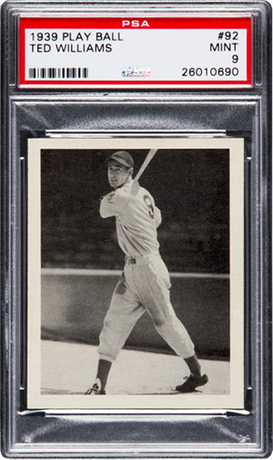 1939 Play Ball Ted Williams PSA 9 Heritage Nov-2016
