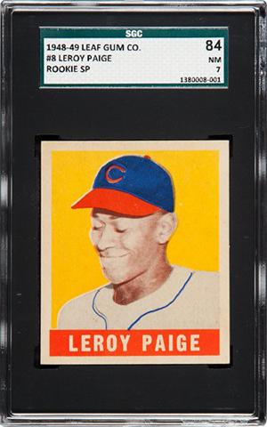 1948 Leaf Satchel Paige SGC 84 Heritage Nov-2016