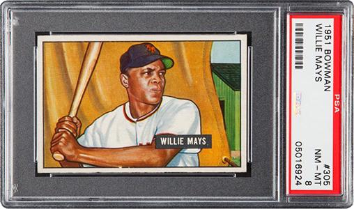1951 Bowman Willie Mays PSA 8