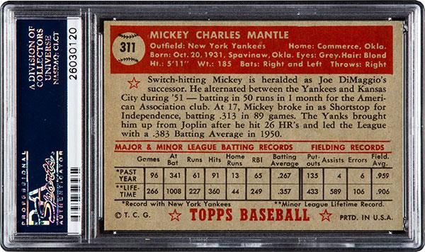 1952-Topps-Mickey-Mantle-PSA-8-5-Heritage-Nov-2016-Reverse
