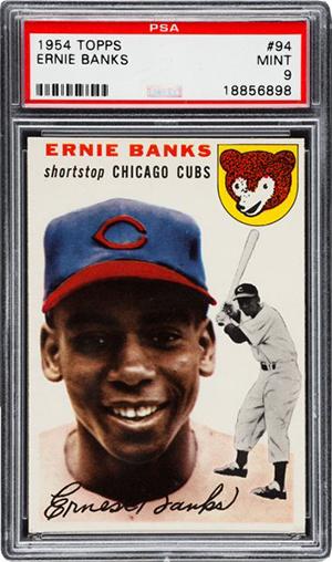 1954 Topps Ernie Banks PSA 9